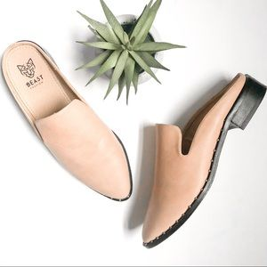 BEAST FASHION Loafer Mules Faux Leather Studs 8.5